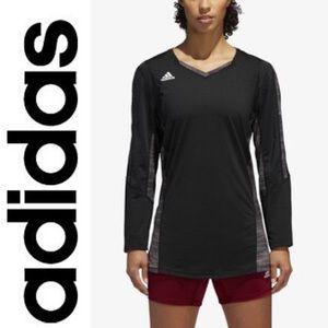 ❤️{Adidas}Black/Grey Quickset Volleyball Top❤️